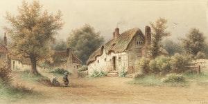 Artwork by Frederick Arthur Verner, Village Landscape