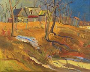 Artwork by Ralph Wallace Burton, Old Farm