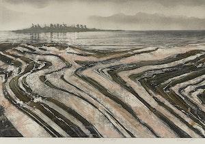 Artwork by Edward John Bartram, Island Shore #2, Georgian Bay