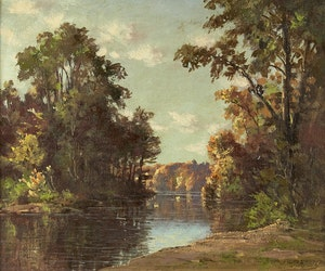 Artwork by Otto Planding, River Landscape