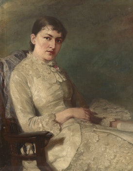 Artwork by John Wycliffe Lowes Forster, Portrait of a Lady