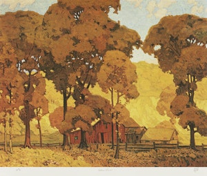 Artwork by Alfred Joseph Casson, Old House on Bayview; Autumn Afternoon; Village House