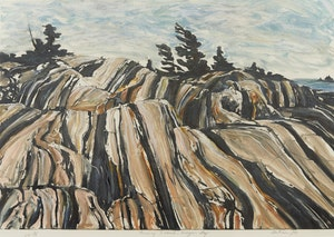 Artwork by Edward John Bartram, Pomeray Island, Georgian Bay