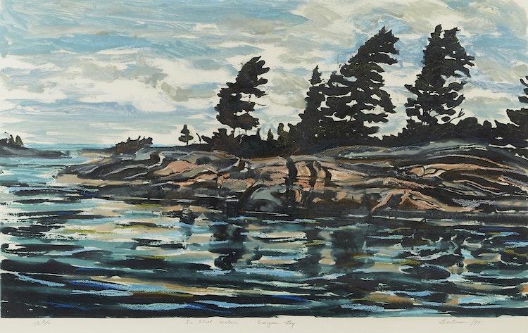 Artwork by Edward John Bartram,  In Still Waters, Georgian Bay