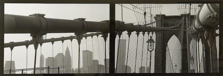 Artwork by Jane Hinton,  Brooklyn Bridge Double (1994-99)