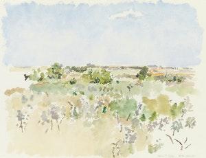 Artwork by Reta Madeline Cowley, Summer in Friesen Pasture