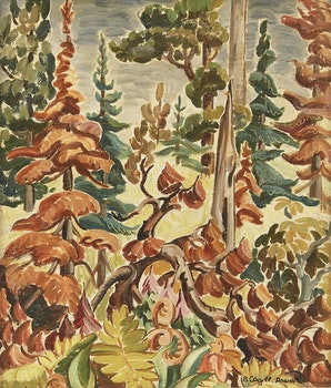 Artwork by Bobs Cogill Haworth, Pine Trees - Whitefish Falls, Ont.