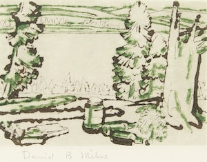 Artwork by David Brown Milne, Painting Place
