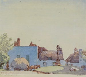 Artwork by Walter Joseph Phillips, A Gloucester Village