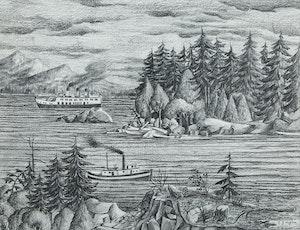 Artwork by Edward John Hughes, Sidney, B.C.
