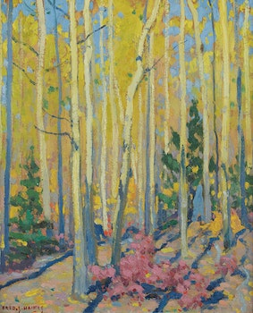 Artwork by Frederick Stanley Haines, Poplars in the Fall