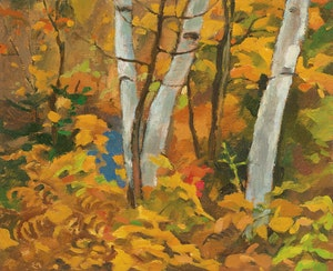 Artwork by Edwin Headley Holgate, Autumn Tangle, Morin Heights
