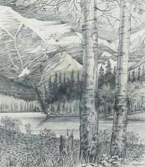 Artwork by Edward John Hughes, Robson River