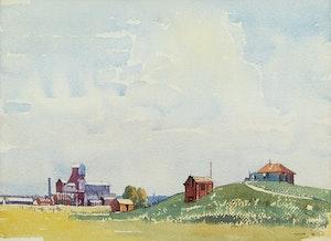 Artwork by Henry George Glyde, Near Vegreville