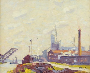 Artwork by Bernice Fenwick Martin, Steam and Haze of Industry along Toronto's Waterfront