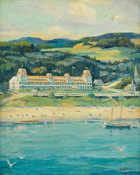 Artwork by Paul Archibald Caron, Hotel Tadoussac