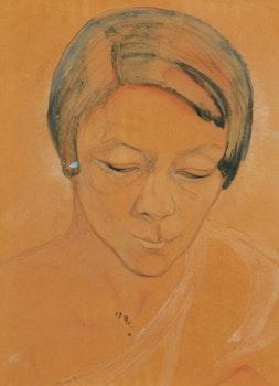 Artwork by Marian Mildred Dale Scott, Portrait of Pegi Nicol MacLeod