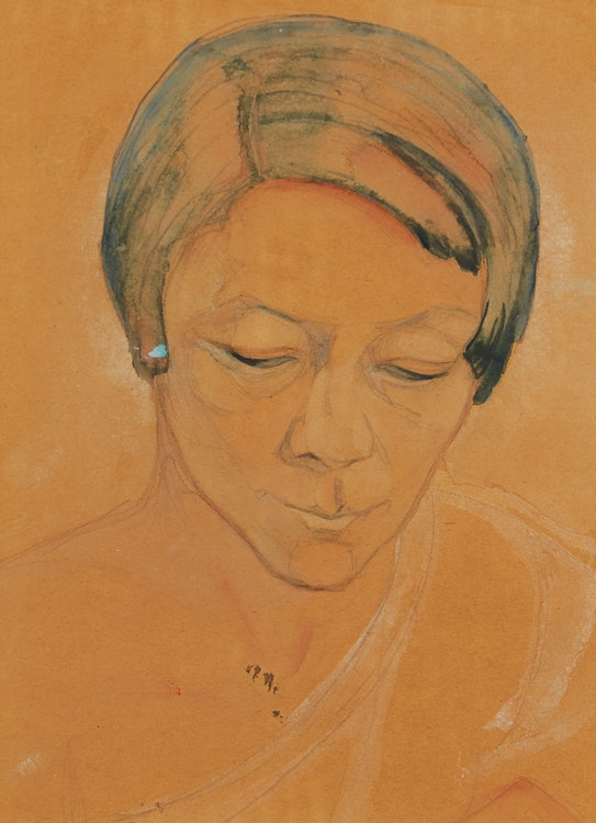 Artwork by Marian Mildred Dale Scott,  Portrait of Pegi Nicol MacLeod