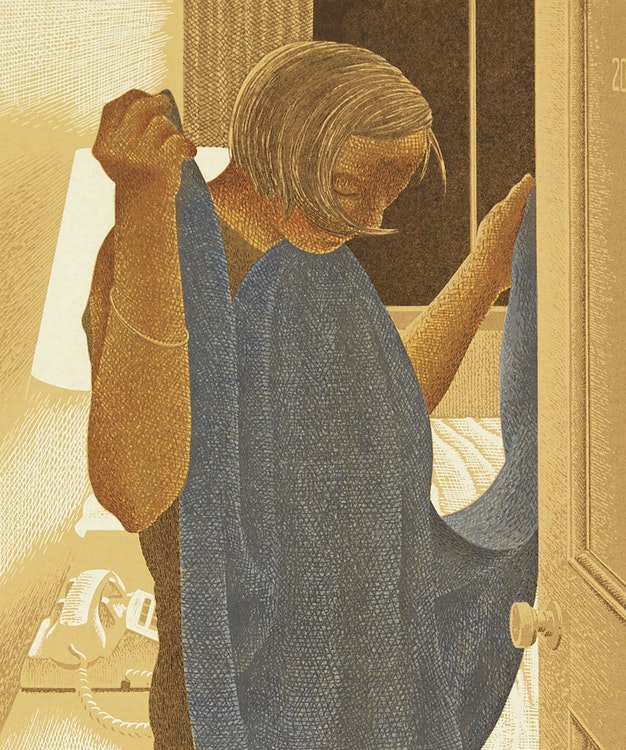 Artwork by David Alexander Colville,  A Book of Hours, Labours of the Months
