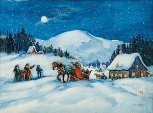 Artwork by Paul Archibald Caron, Christmas Eve