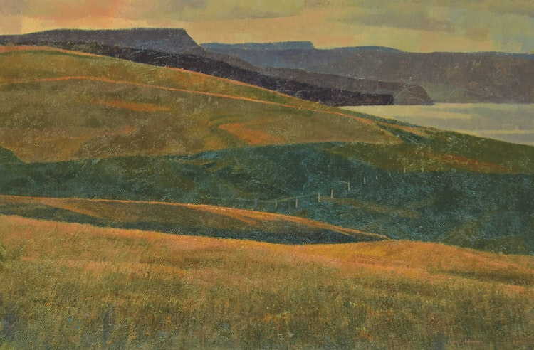 Artwork by Alan Caswell Collier,  The Land that Broods