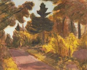 Artwork by William Goodridge Roberts, Country Road
