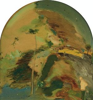 Artwork by Anthony Morse Urquhart, Landscape with Self Portrait