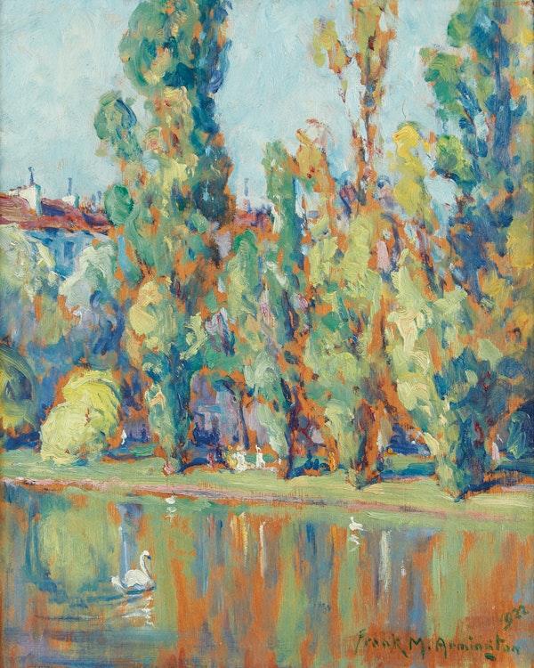Artwork by Frank Milton Armington,  Parc de Montsouris, Paris