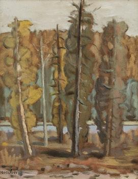 Artwork by Stanley Morel Cosgrove, Forest Landscape