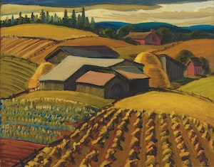 Artwork by Yvonne McKague Housser, Harvest Time