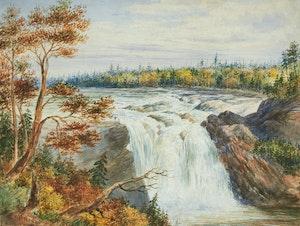 Artwork by Washington Friend, Chaudiere Falls, Near Quebec