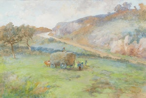 Artwork by Frances Anne Hopkins, Filling the Wagon
