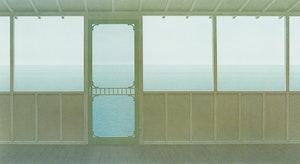 Artwork by Christopher Pratt, Cottage Interior