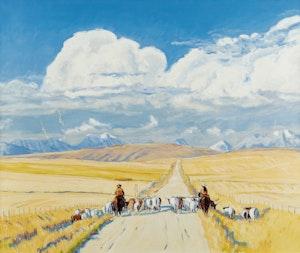 Artwork by Robert Francis Michael McInnis, Herding the Cattle