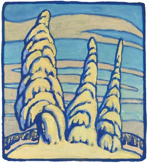 Artwork by Lawren Stewart Harris, Snow-Covered Trees