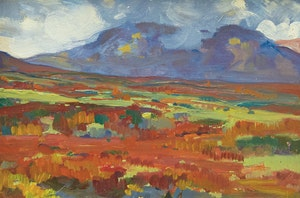 Artwork by Clarence Alphonse Gagnon, Dover Mountains, Norway