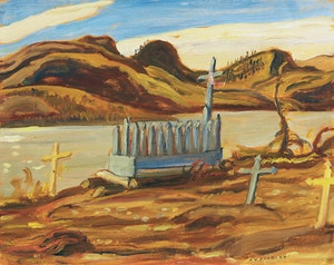 Artwork by Alexander Young Jackson, Indian Graves, Echo Bay