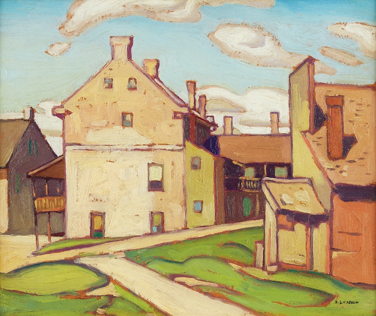 Artwork by Alfred Joseph Casson,  Old Hotel, Elora