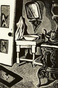 Artwork by Edwin Headley Holgate, Labrador Kitchen No. 2