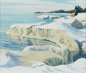 Artwork by Doris Jean McCarthy, Icebergs in Sunlight, Wellington