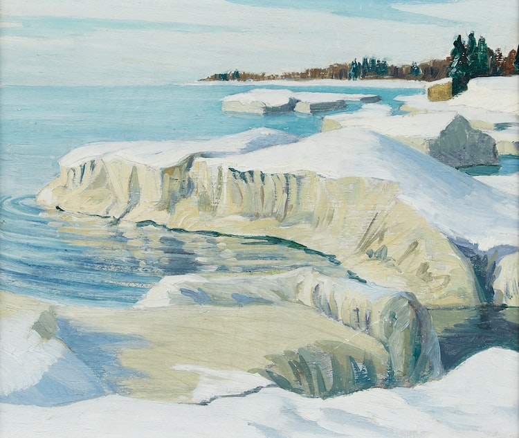 Artwork by Doris Jean McCarthy,  Icebergs in Sunlight, Wellington