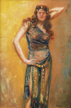 Artwork by Frederick Sproston Challener, Posing Dancer