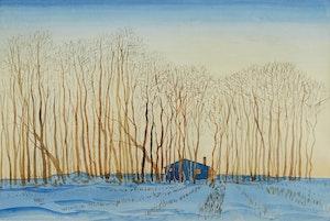 Artwork by Robert N. Hurley, Winter Landscape