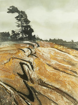 Artwork by Edward John Bartram, Precambrian Fault #3