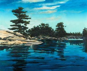 Artwork by Edward John Bartram, Island Cove, Georgian Bay