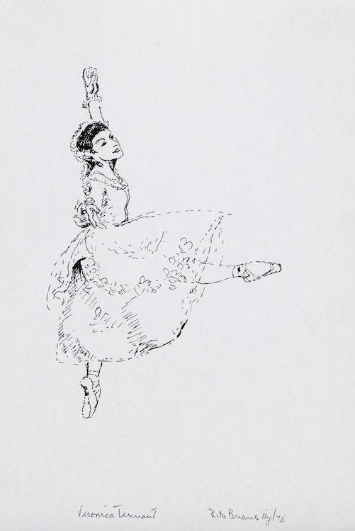Artwork by Rita Briansky,  Veronica Tennant; The Locket; Sorrow; After Degas