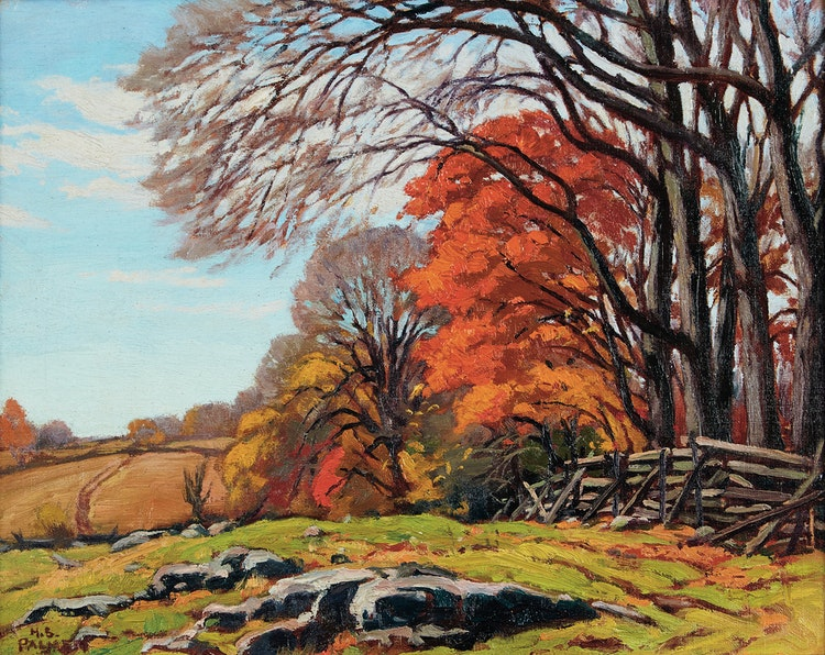 Artwork by Herbert Sidney Palmer,  Late October