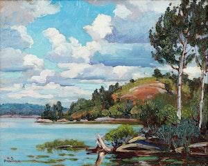 Artwork by Herbert Sidney Palmer, Near Kirk's Cove, Gull Lake