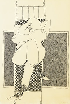 Artwork by William Ronald, Reclining Female Nude
