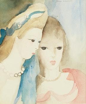 Artwork by Marie Laurencin, Deux jeunes amies